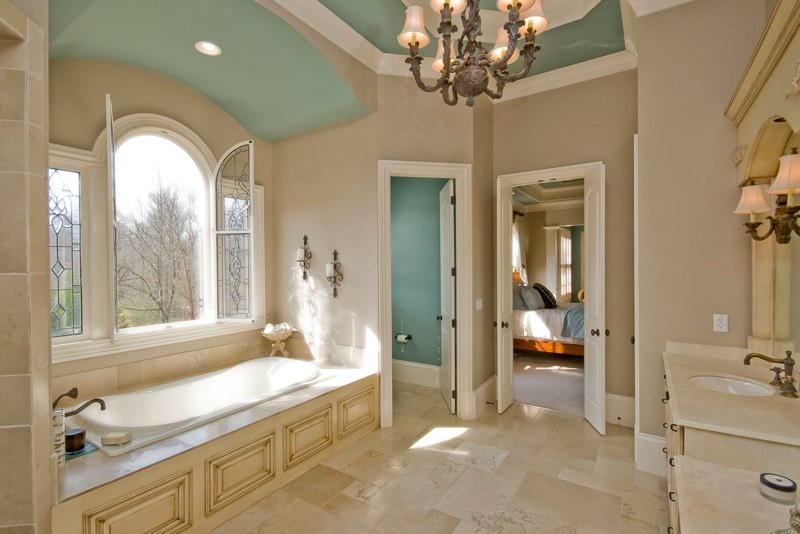 A Bathroom, such as one in an Alpharetta bathroom remodel
