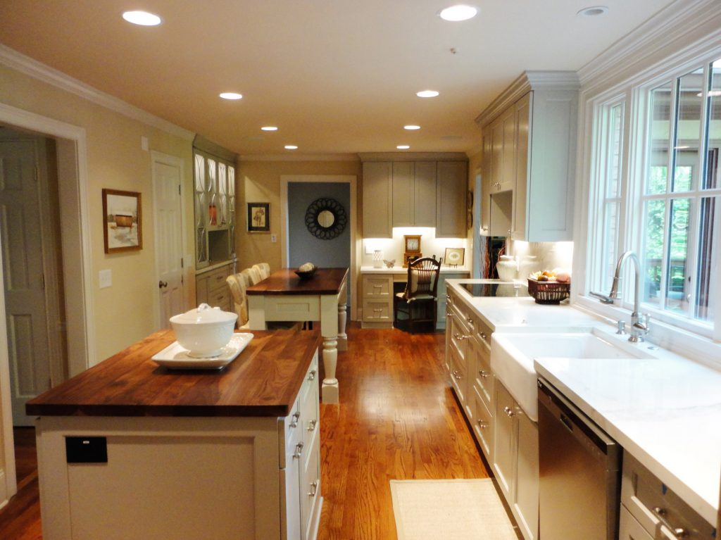 A renovated kitchen with plenty of movement space