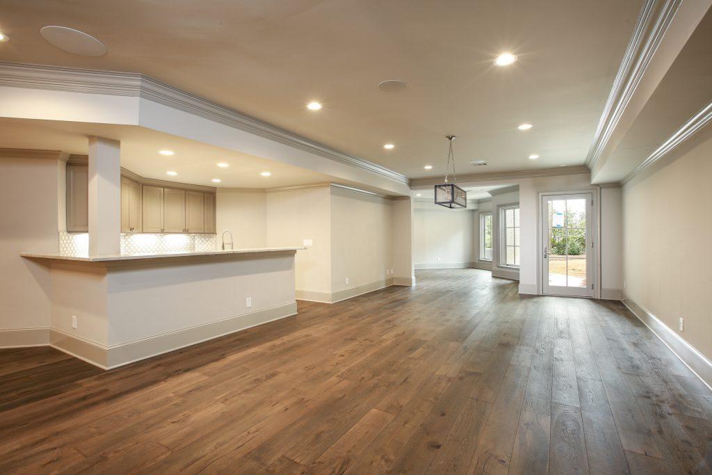 A luxurious basement remodel