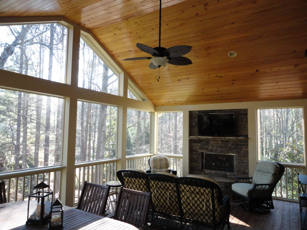 Home additions can include a porch upgrade