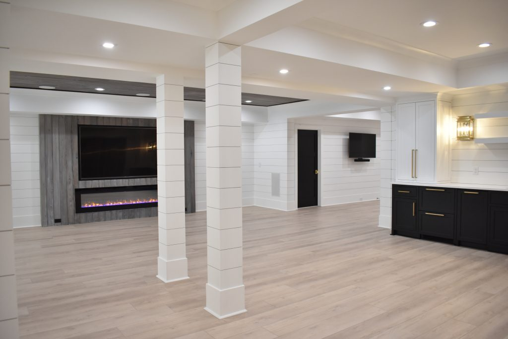 A stylish basement renovation in the atlanta area
