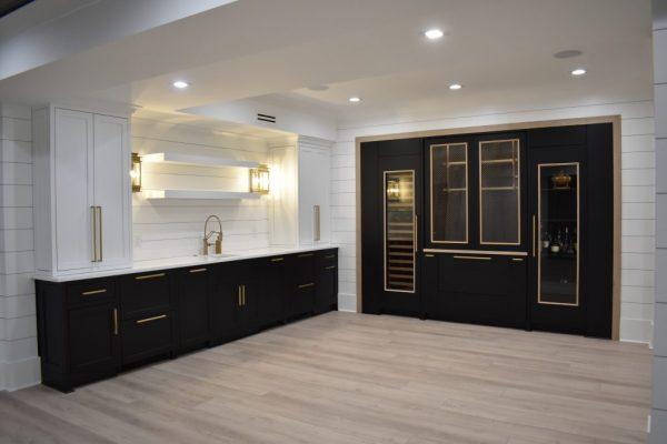 A bar in an alpharetta dunwoody atlanta area basement remodel
