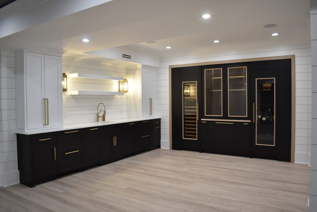 A bar in an alpharetta dunwoody atlanta area basement remodel