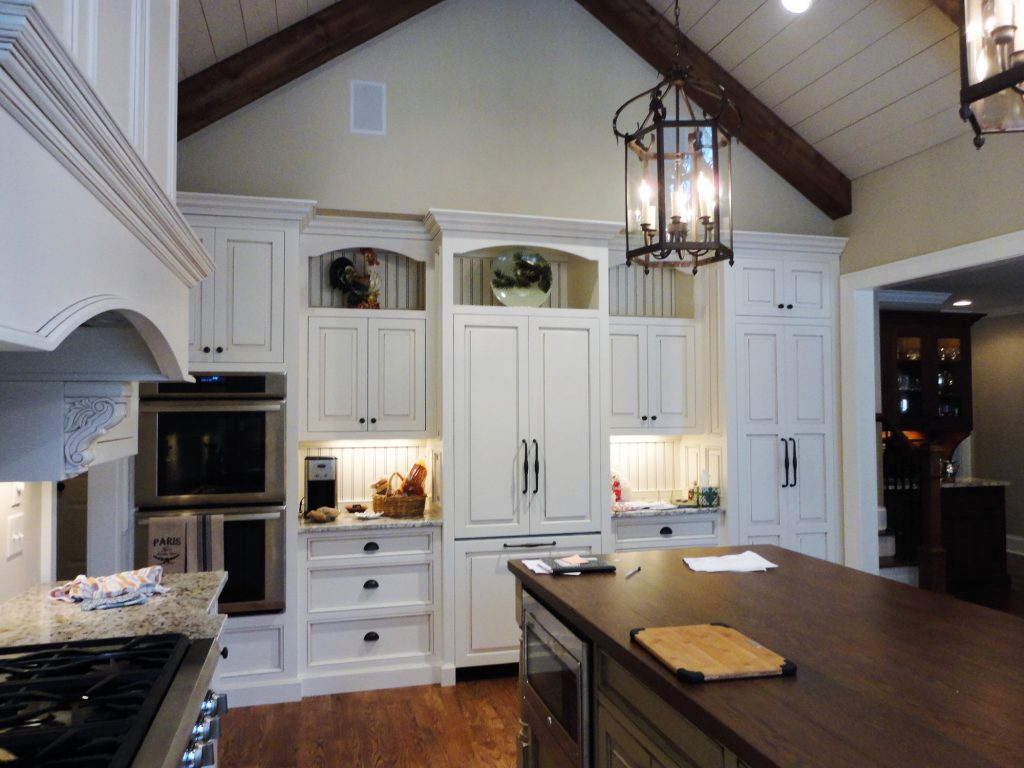 select finishes, like the paint in this kitchen remodel