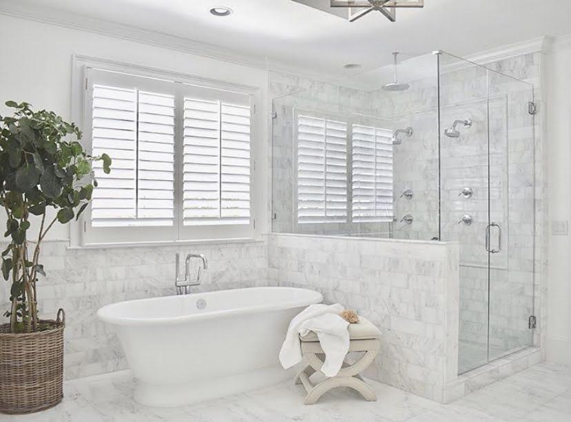 a bathroom after a remodel