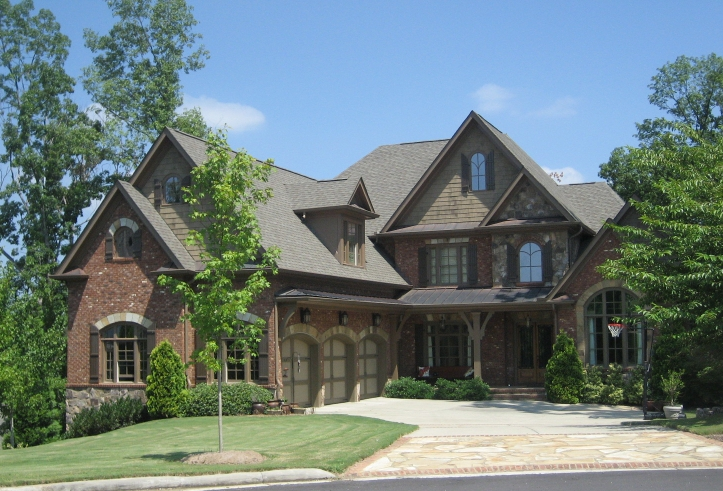 A new home with fresh exterior features in Georgia