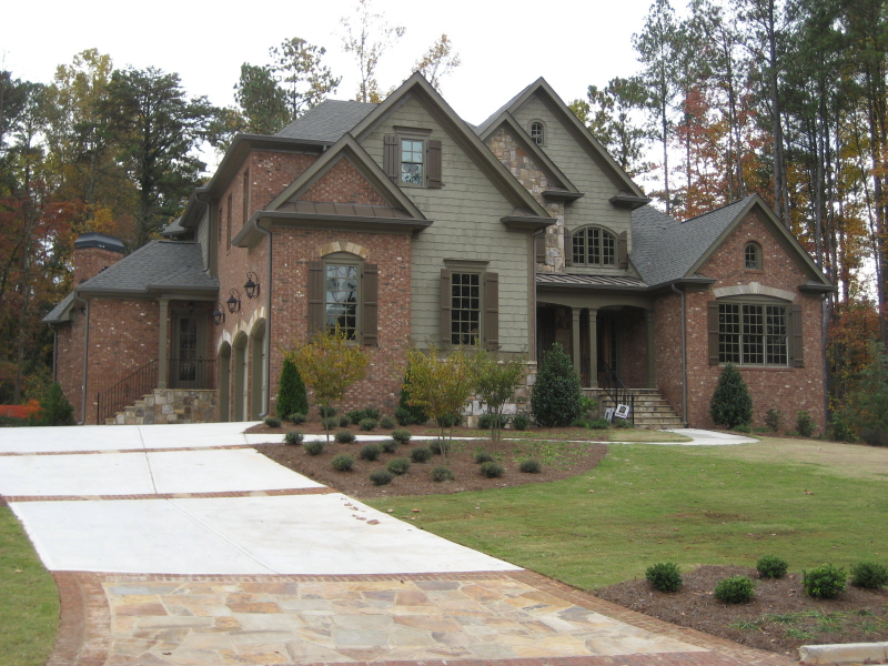 A new home with exterior features in Georgia
